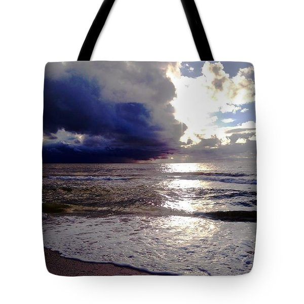 Tote Bag featuring the photograph Storm Clouds 1 by Vicky Tarcau