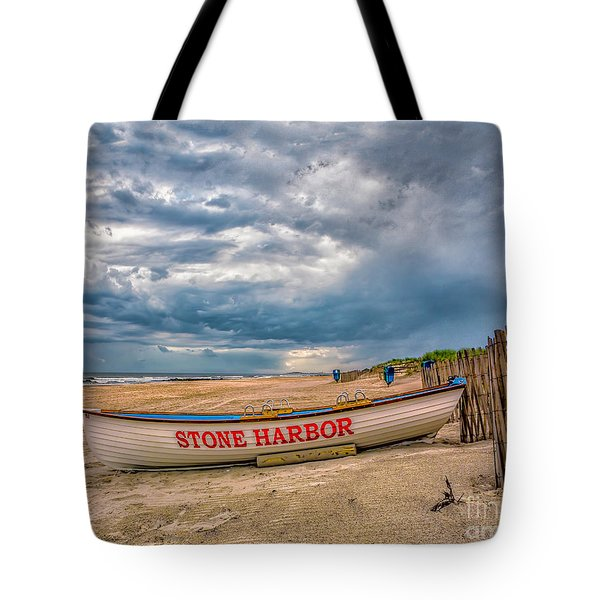 Storm Clouds In Stone Harbor Tote Bag