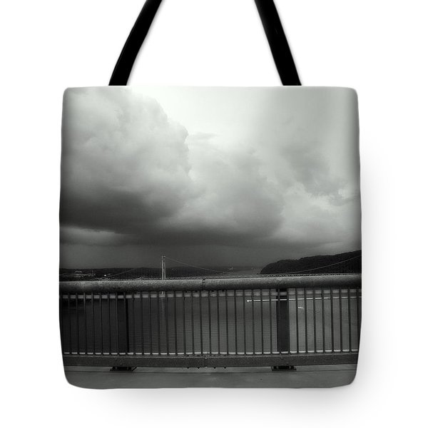 Storm Clouds On The Hudson Tote Bag by Bruce Carpenter