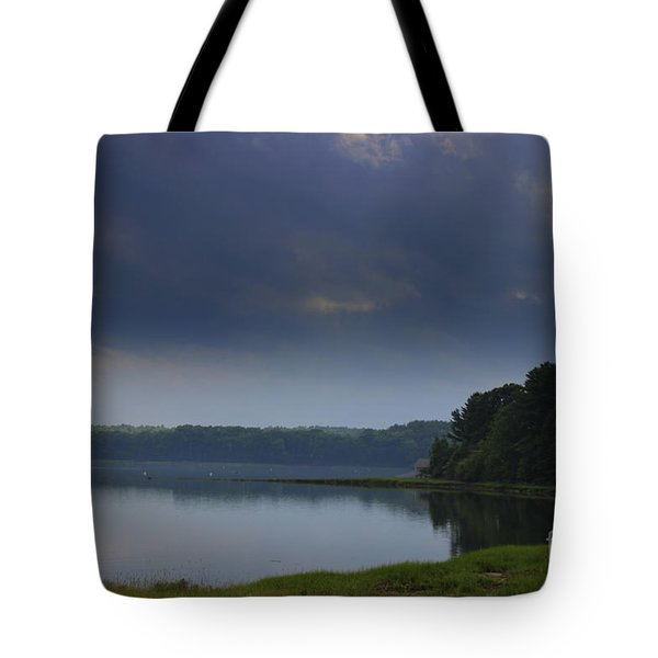 Storm Clouds Over The  Bay Tote Bag