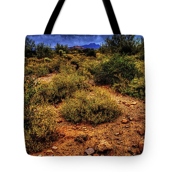 Storm Clouds Over The Sonoran Desert In Spring Tote Bag