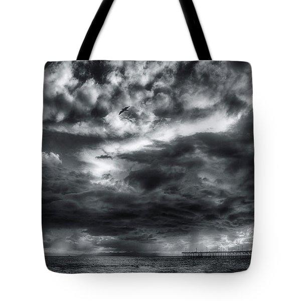 Storm Clouds Ventura Ca Pier Tote Bag