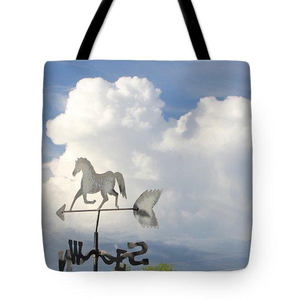 Storm Clouds Weather Vane Tote Bag