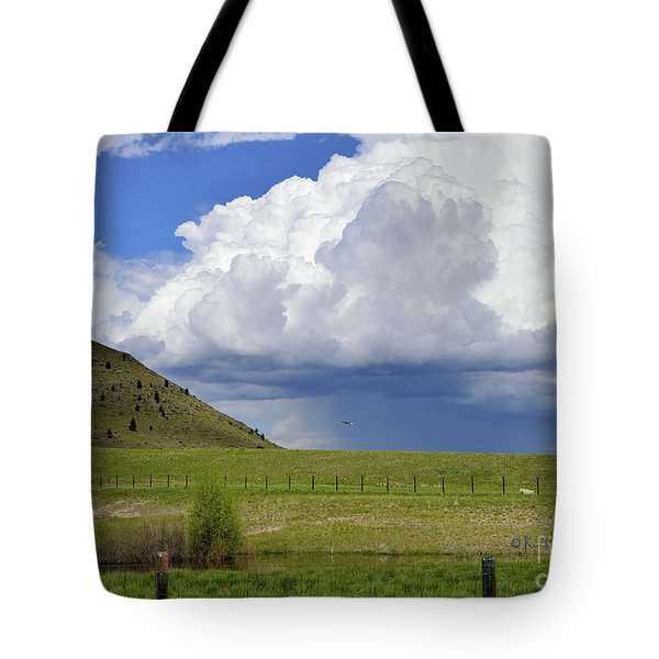 Storm Coming In Tote Bag