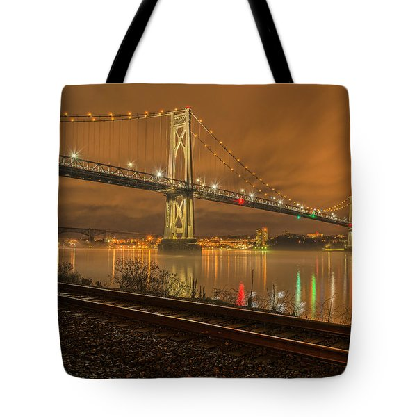 Storm Crossing Tote Bag by Angelo Marcialis