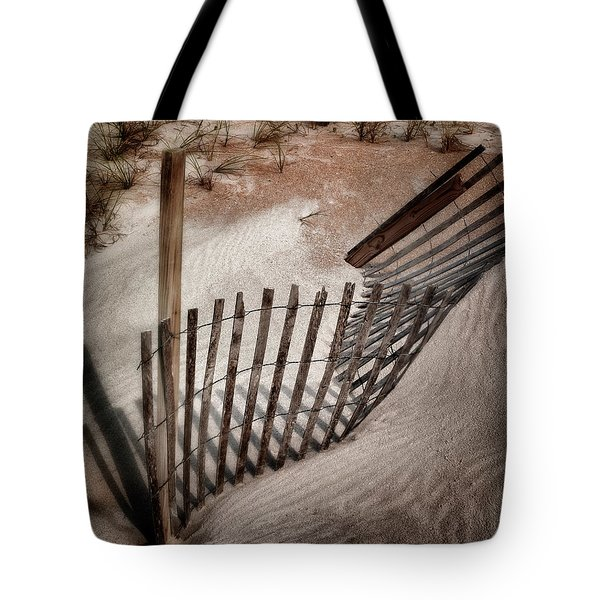 Storm Fence Series No. 2 Tote Bag by John Pagliuca