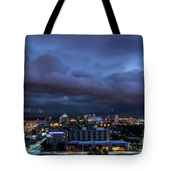 Tote Bag featuring the photograph Storm Front by Andrea Silies