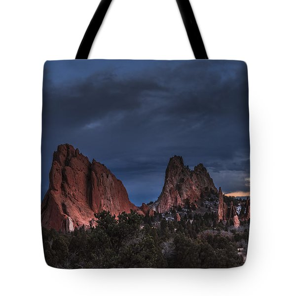 Storm In The Garden Of The Gods Tote Bag