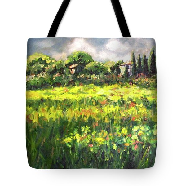 Storm In Tuscany Tote Bag