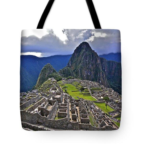 Storm Inbound To Machu Picchu Tote Bag