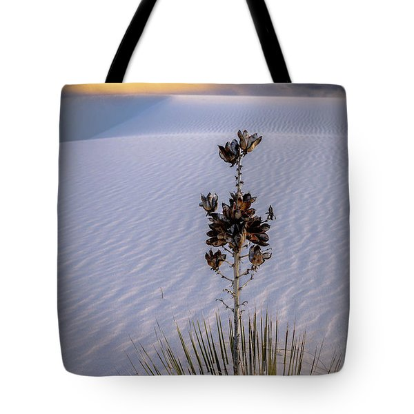 Storm Light At White Sands Tote Bag