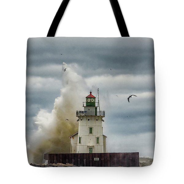 Storm On Lake Erie Tote Bag