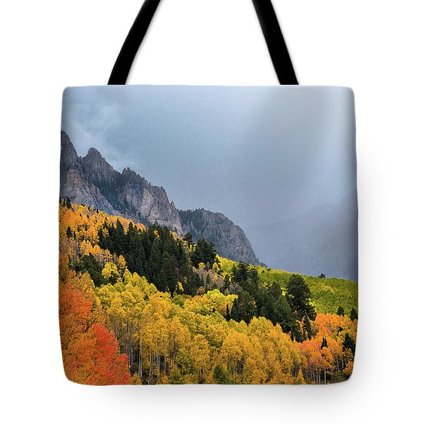 Storm On Million Dollar Highway Tote Bag