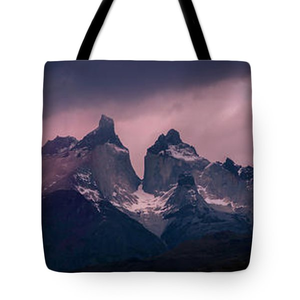 Tote Bag featuring the photograph Storm On The Peaks by Andrew Matwijec