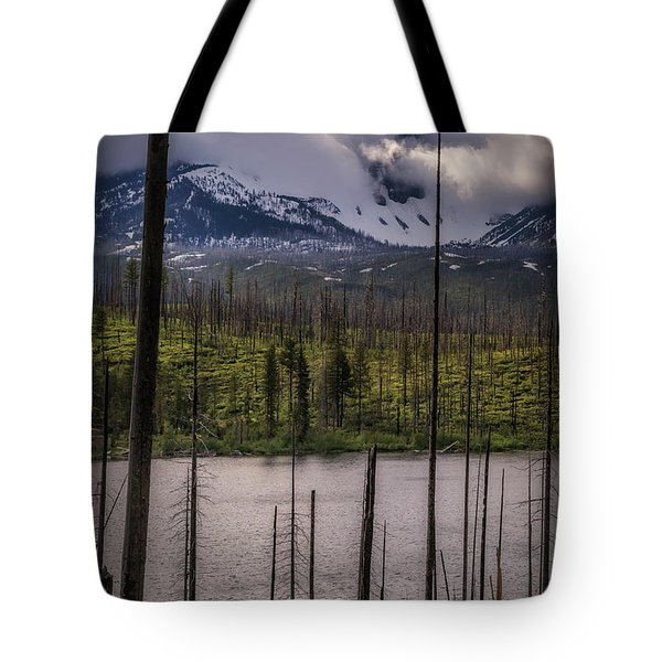Tote Bag featuring the photograph Storm On Three Fingered Jack by Cat Connor