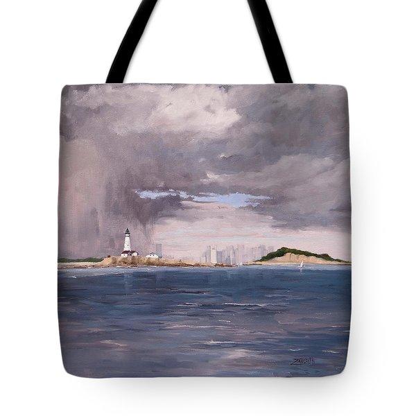 Storm Over Boston Tote Bag