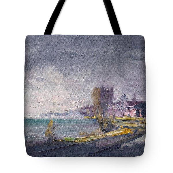 Storm Over Buffalo River  Tote Bag
