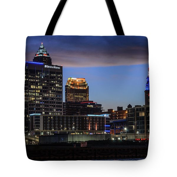 Storm Over Cleveland Tote Bag