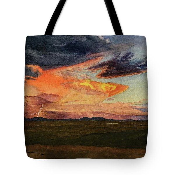 Storm Over Davis Mountains Tote Bag