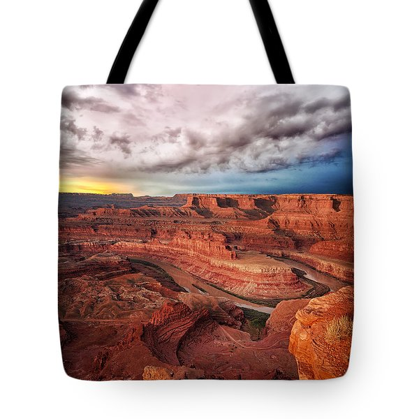 Storm Over Dead Horse Point Tote Bag
