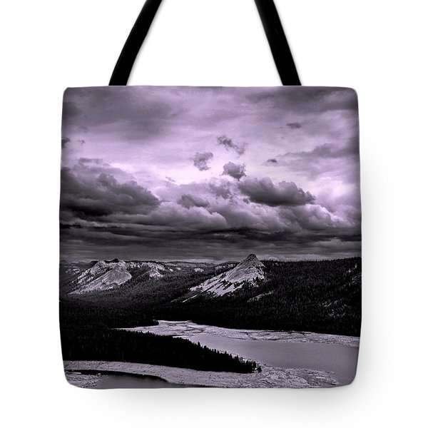 Storm Over Domes Tote Bag