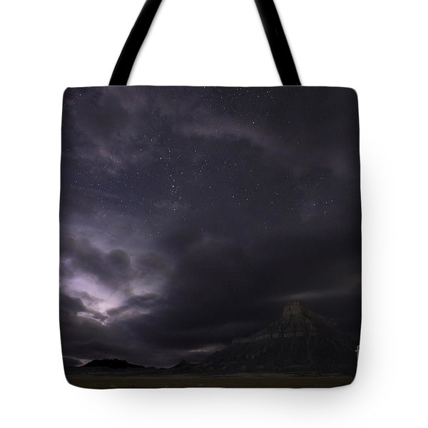 Tote Bag featuring the photograph Storm Over Factory Butte by Keith Kapple