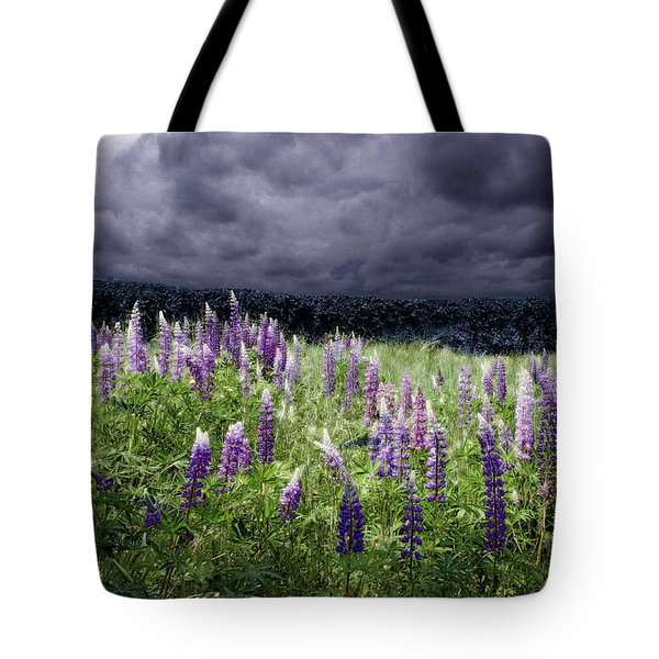 Storm Over Lupine Tote Bag