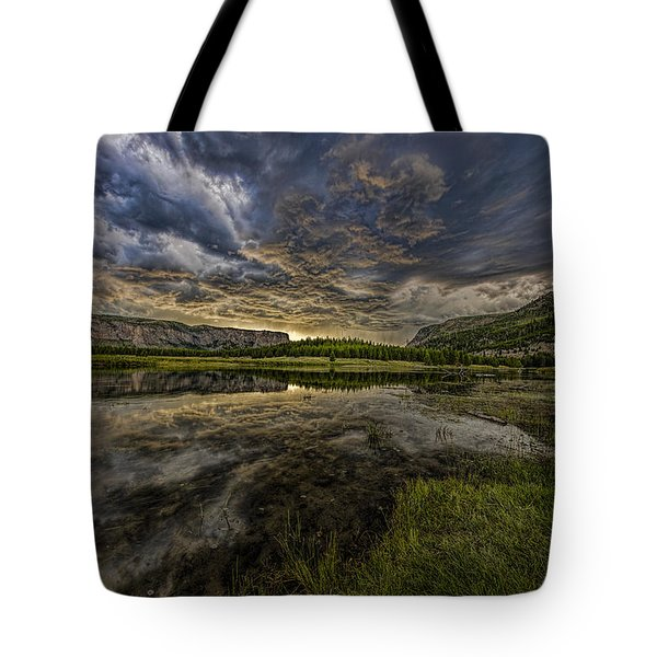 Storm Over Madison River Valley Tote Bag