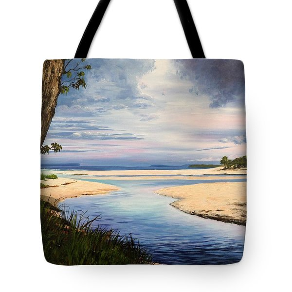 Storm Over Moona Moona Creek Tote Bag
