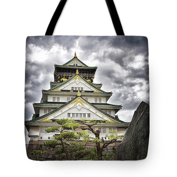 Storm Over Osaka Castle Tote Bag