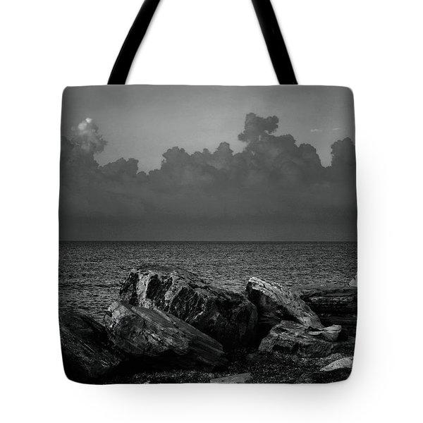 Storm Over Roda- Greece Tote Bag