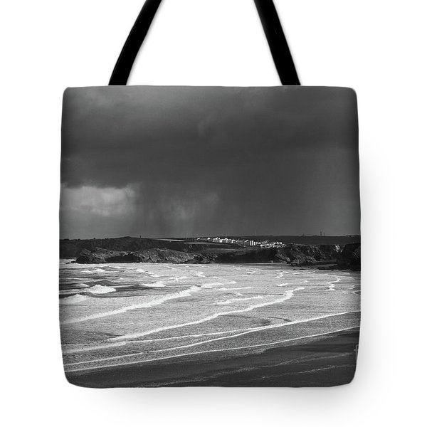 Storm  Over The Bay Tote Bag by Nicholas Burningham