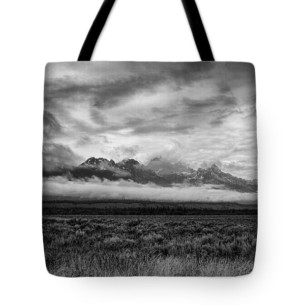 Storm Over The Grand Tetons Tote Bag by Hugh Smith