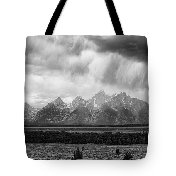 Storm Over Tres Tetons Tote Bag