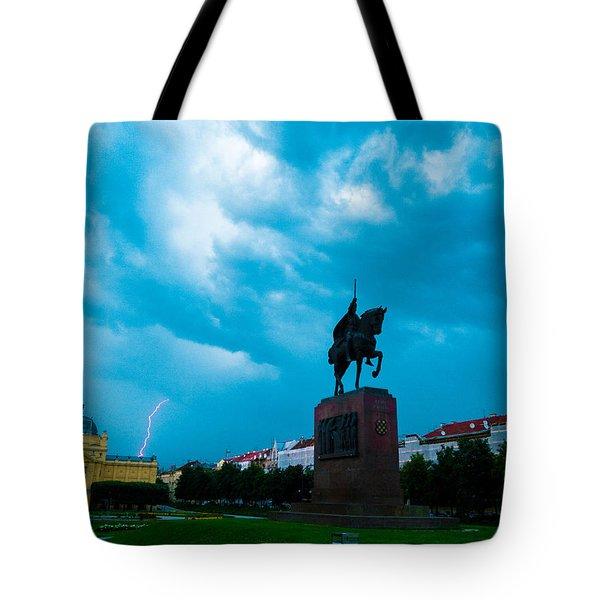 Storm Over Zagreb Tote Bag