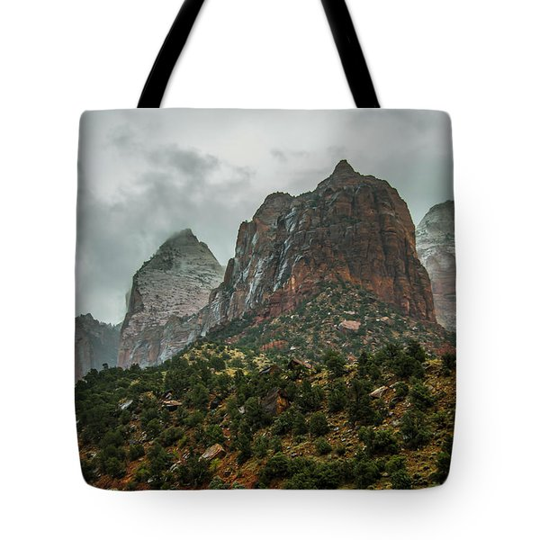 Storm Over Zion Tote Bag