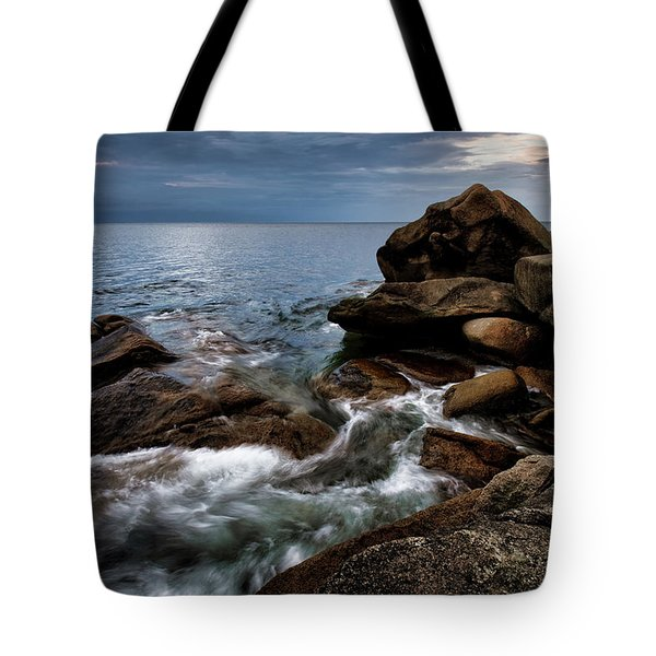 Tote Bag featuring the photograph Storm Pass Halibut Pt. by Michael Hubley