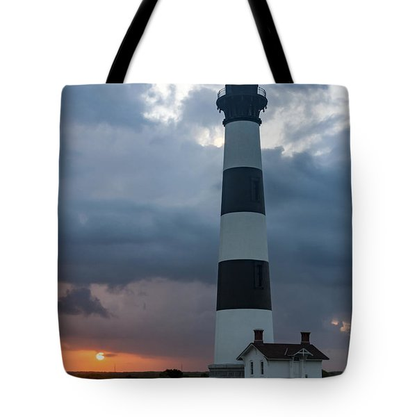 Storm Passes Bodie Island Lighthouse Tote Bag