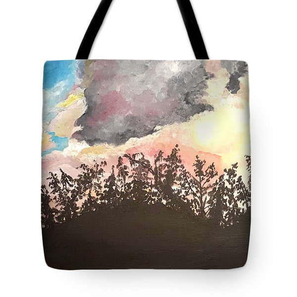 Storm Passing Through Tote Bag