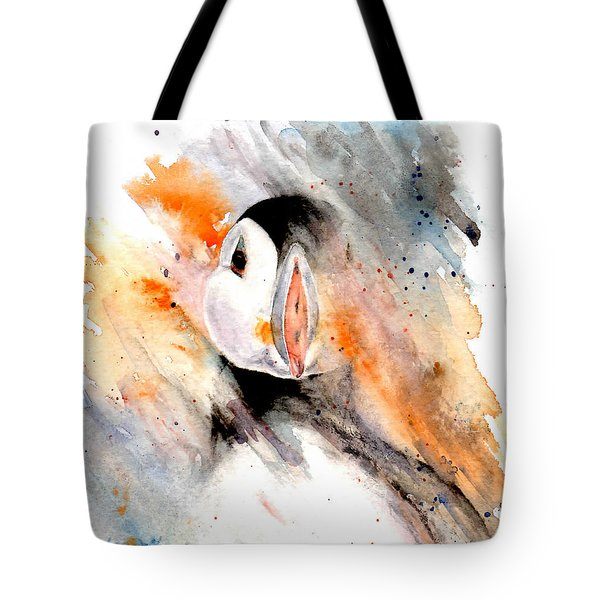 Storm Puffin Tote Bag