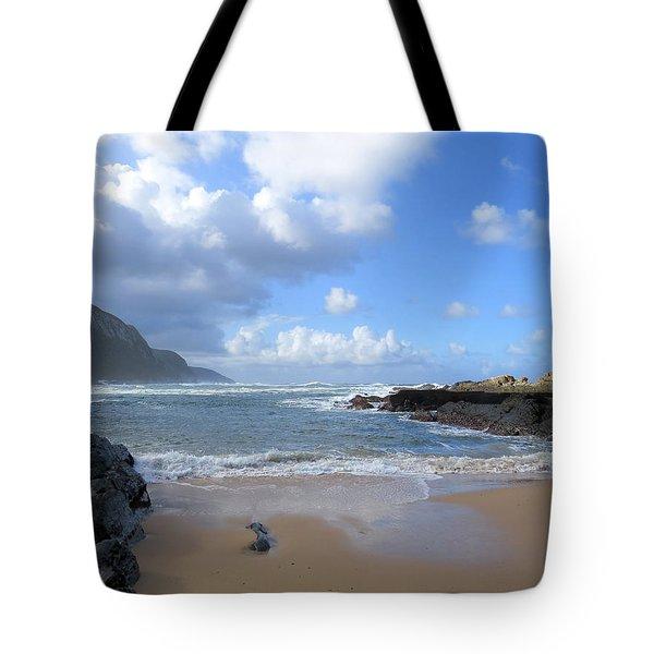 Storm River Beach Tote Bag