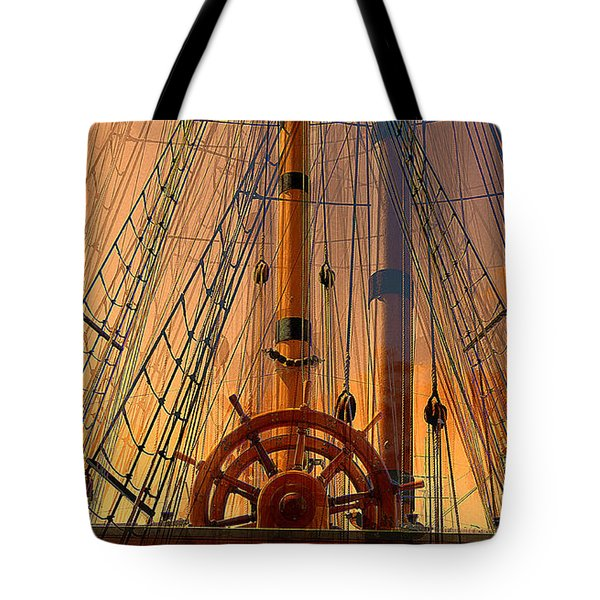 Tote Bag featuring the photograph Storm Ship Of Old by Lori Seaman