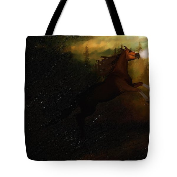 Storm Spooked Tote Bag by Angela A Stanton