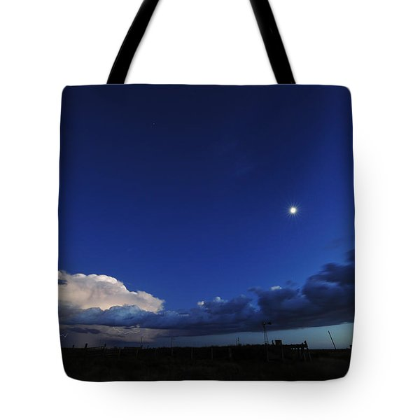 Storm Stars And Moon Tote Bag by Karen Slagle