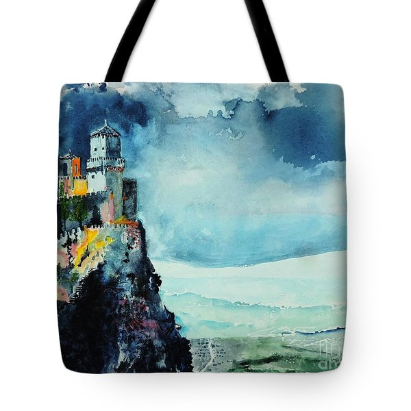 Storm The Castle Tote Bag by Tom Riggs