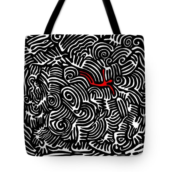 Storm Tossed Tote Bag by Sarah Loft