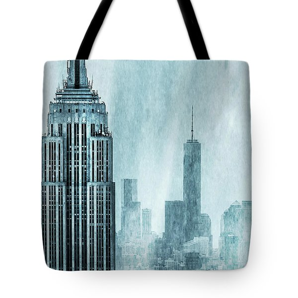Tote Bag featuring the digital art Storm Troopers by Az Jackson