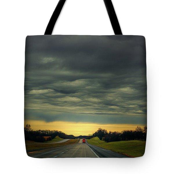 Storm Truckin' Tote Bag