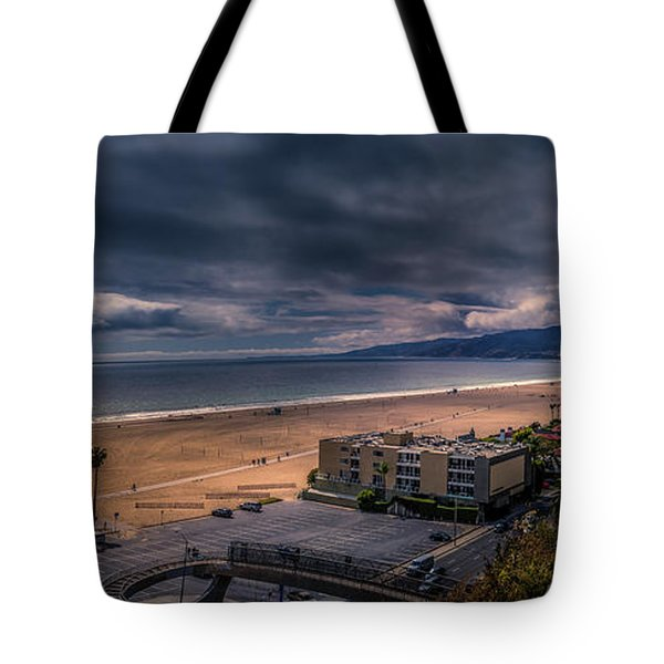 Storm Watch Over Malibu - Panarama  Tote Bag