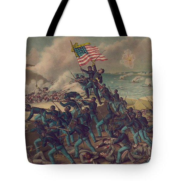 Storming Fort Wagner Tote Bag